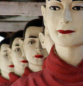 Birmese monnik beelden
