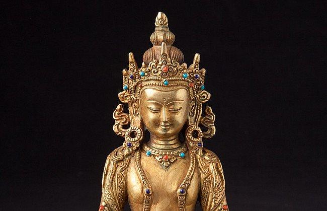 Kronen Buddha Figur