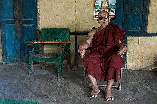 Ein alter burmesischer Mönch