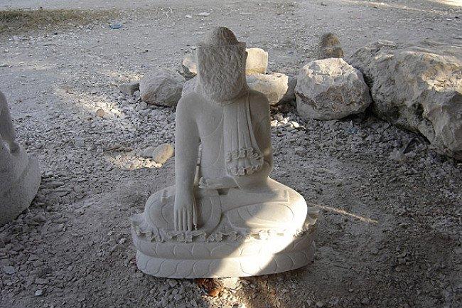 Marmeren Boeddhabeeld