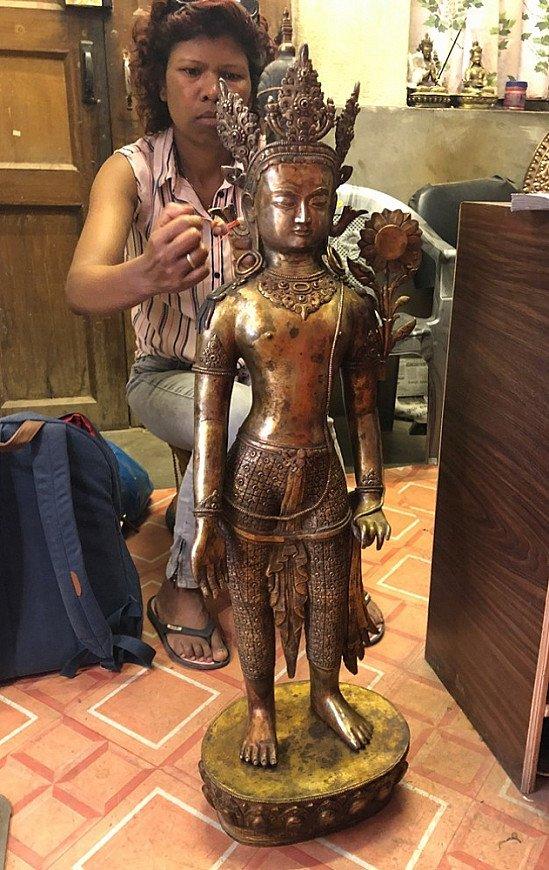 groot nepalees boeddhabeeld