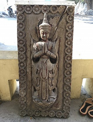 Antique wooden panel