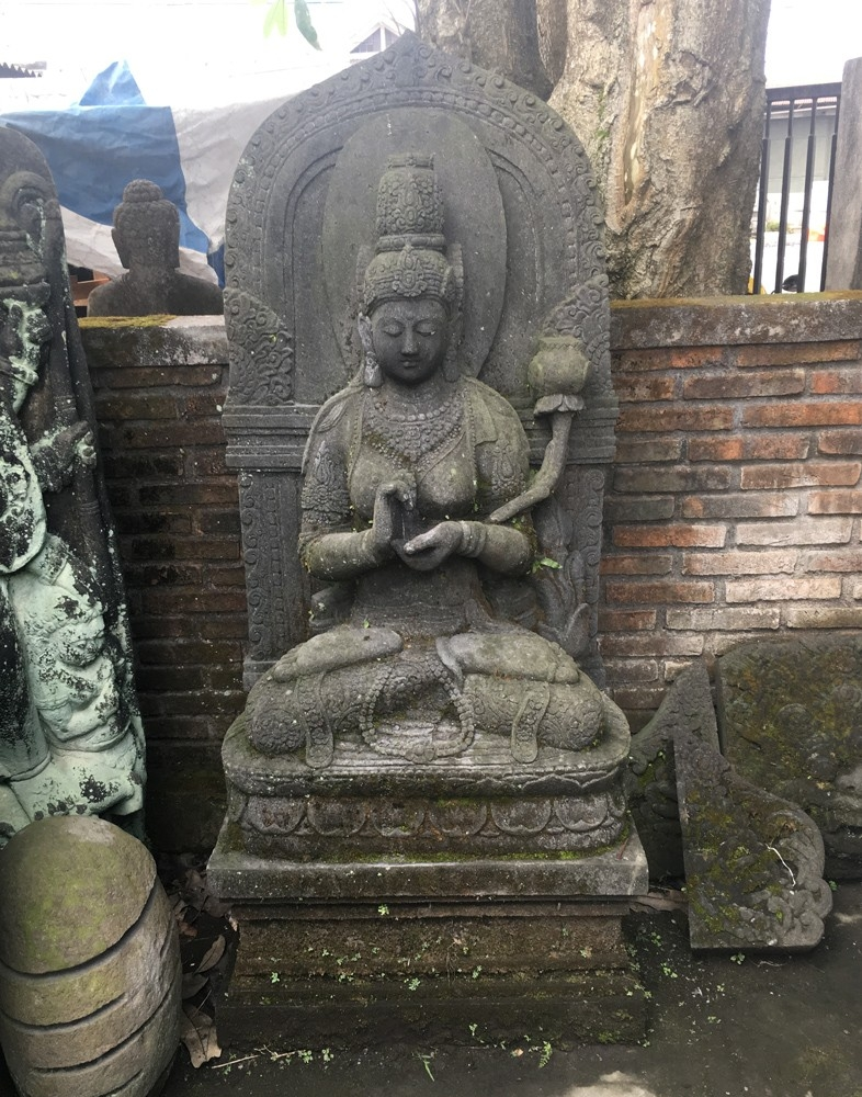 Large Tara statue made of lavastone