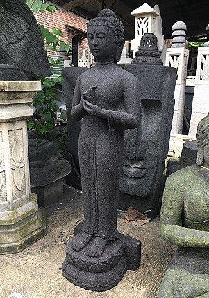 Newly made lavastone Buddha statue