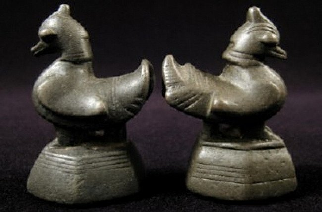Pair of Opium Weights