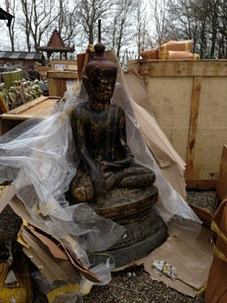 Large Lacquer Buddha statue