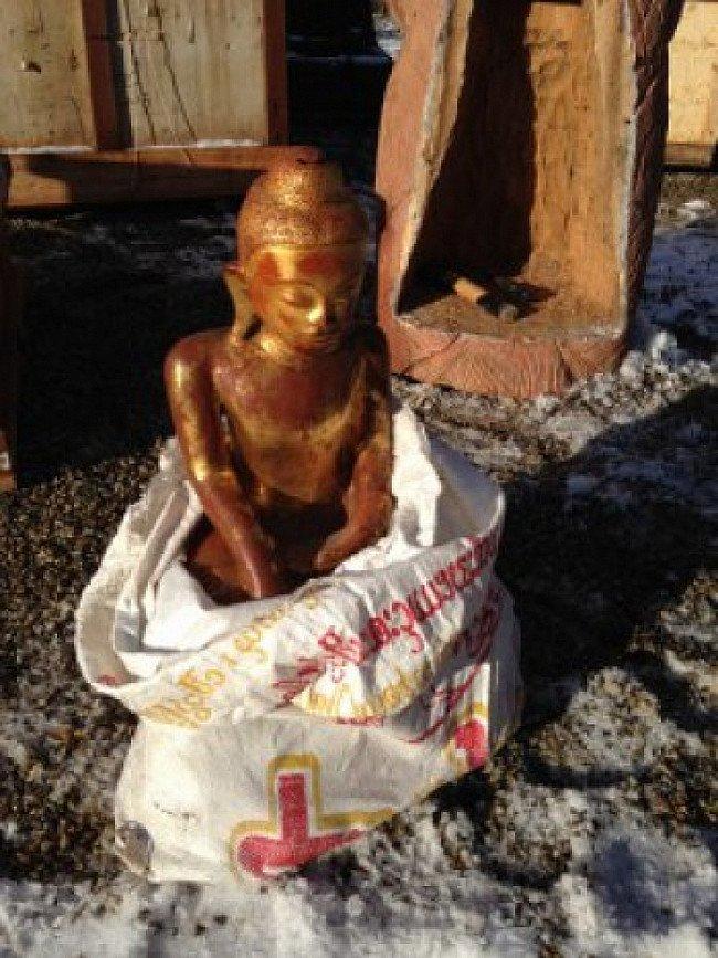 Lacquer Buddha statue
