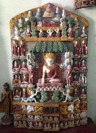 wooden bagan panel