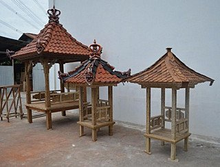 Several different model of Buddhist temples