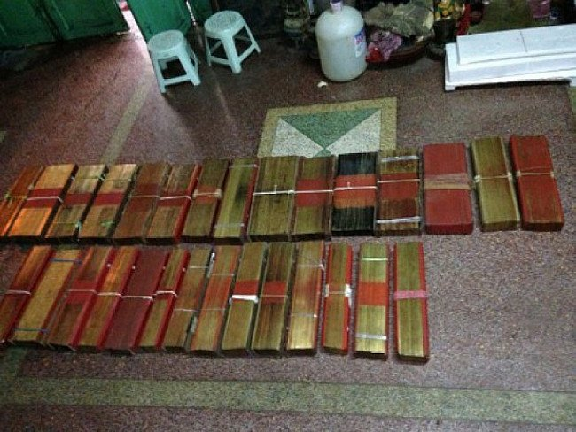 We bought over 100 Buddhist books from a monastery