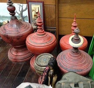 We bought a few original red offering vessels