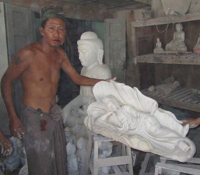 Marmeren Kwan Yin