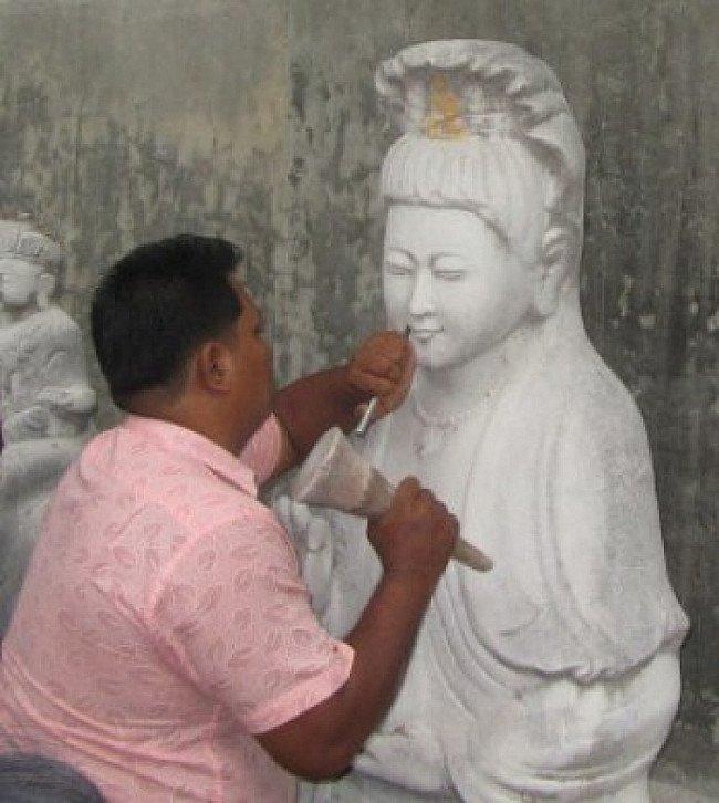Large marble Guan Yin