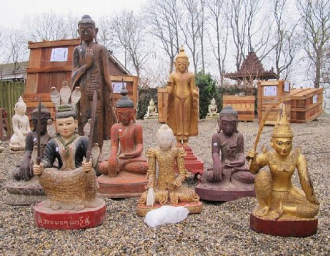 Several Buddha statues from Burma