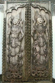 We bought antique doorpanels from monastry in Burma