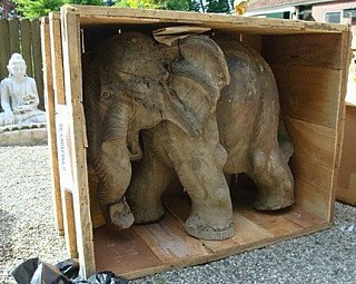 Antique wooden elephant