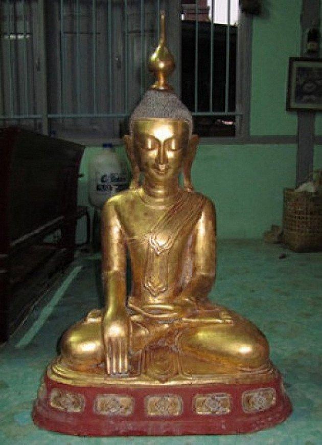 Antieke Boeddha van lakwerk