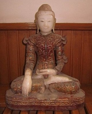 Antieke 18e eeuwse Boeddha