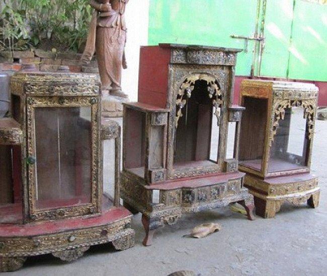 Antieke houten huistempels