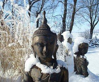 bronzen boeddha