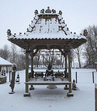 tempel huis bali