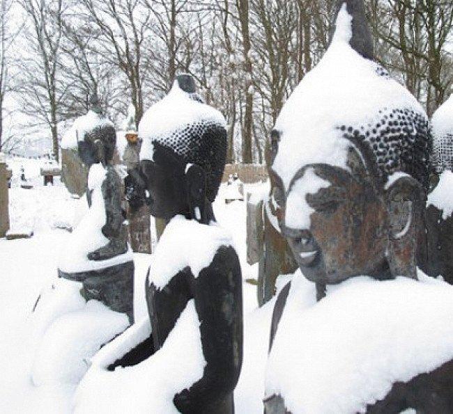 boeddhabeelden tuin