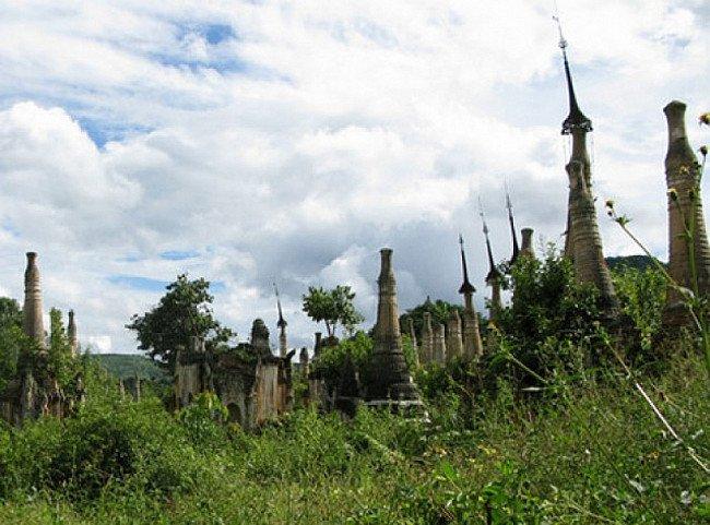 Ruinen in der Shan Provinz