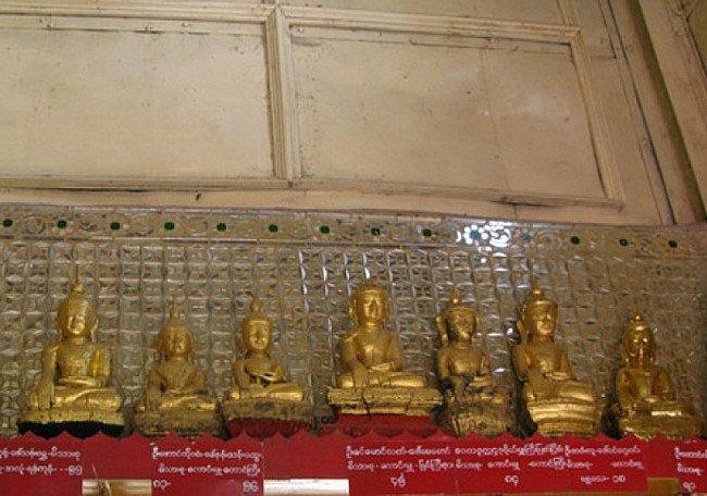 Die Höhlen von Pindaya mit vielen Buddha-Bildern.