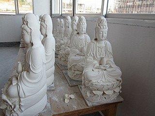 Porseleinen Kwan Yin beelden