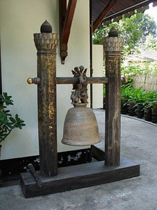 An antique bronze bell from a monastry