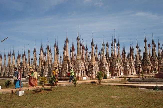 Many pagodas in the Shan state