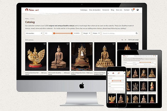 new website of Buddha statues