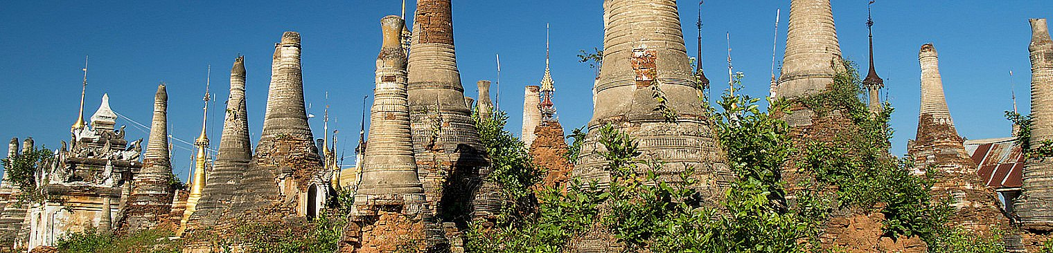 Buddhist temple ruins in Burma