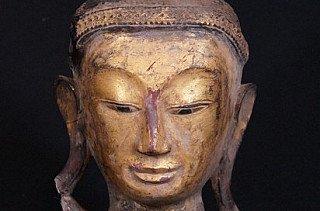 Burmese Buddha Head statue
