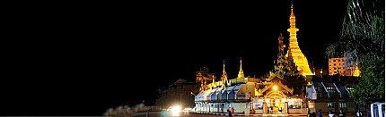 Pagodas in Yangon region of Burma