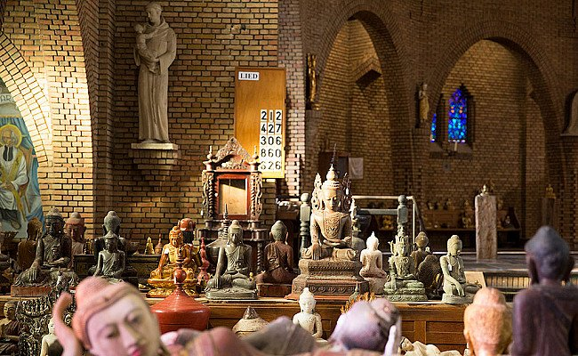 Collection of antique Buddha statues in our gallery