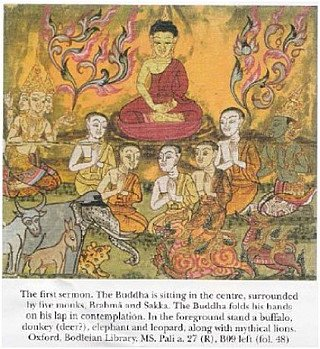 The first sermon of the Buddha