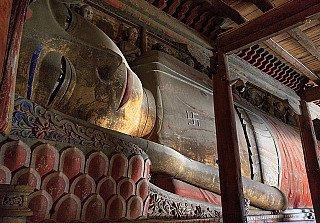 Gigantic Reclining Buddha at Dafo Temple, China