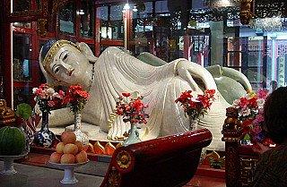 Marble Reclining Buddha at Jade Buddha Temple, China
