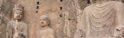 Famous Antique Buddha Statues of Longmen Grottoes, China