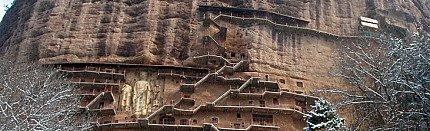 Antique Buddha Statues in Maijisha Grottoes
