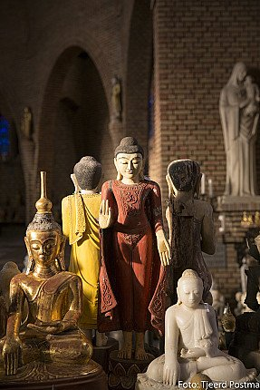 Antique Buddha Statues in gallery
