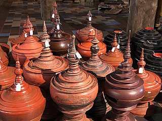 Antique Burmese offering vessels