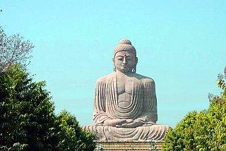 buddha statue in bodh gaya