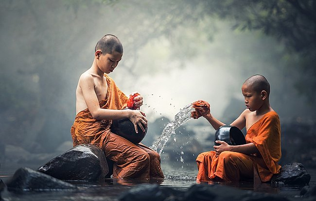 Buddhisty monk