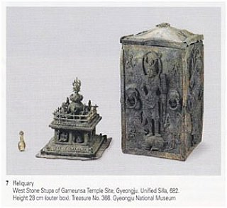 reliquary west stone stupa of gameunsa temple site
