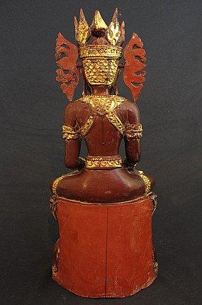 Old crowned Buddha - Jambupati Buddha
