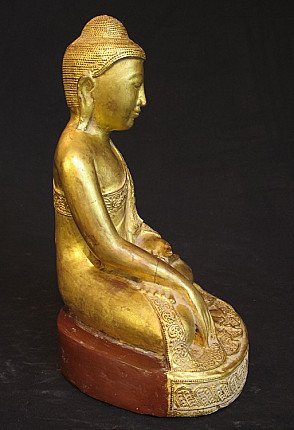 Antique wooden Buddha
