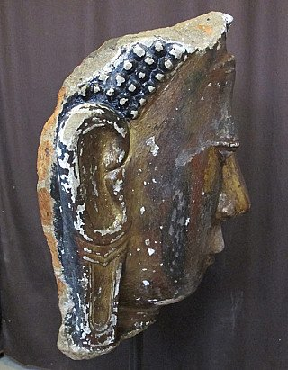 Antique Buddha head