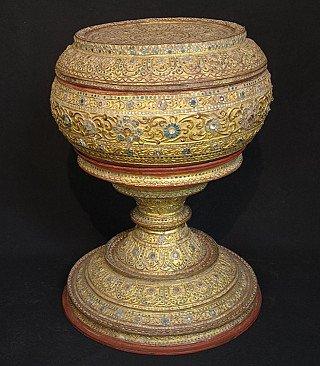 19th century Burmese offering vessel